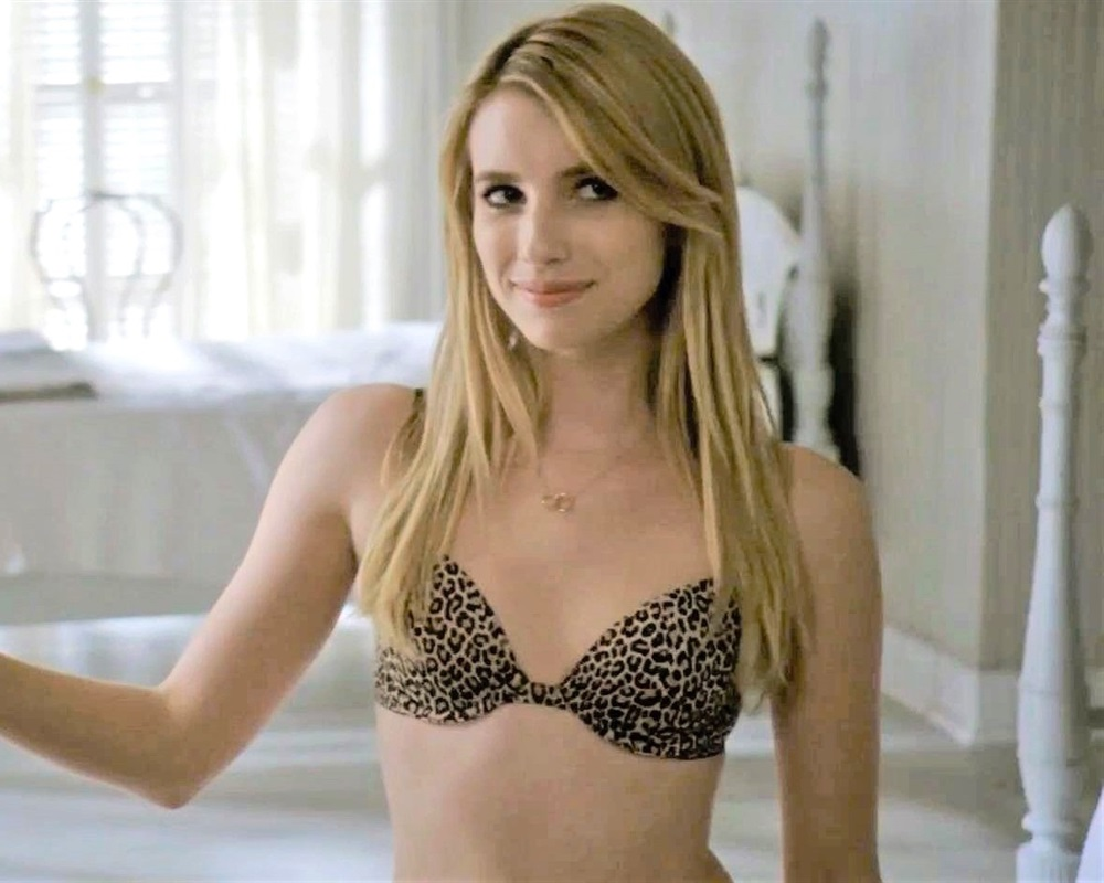 Emma Roberts Bra And Panties Compilation