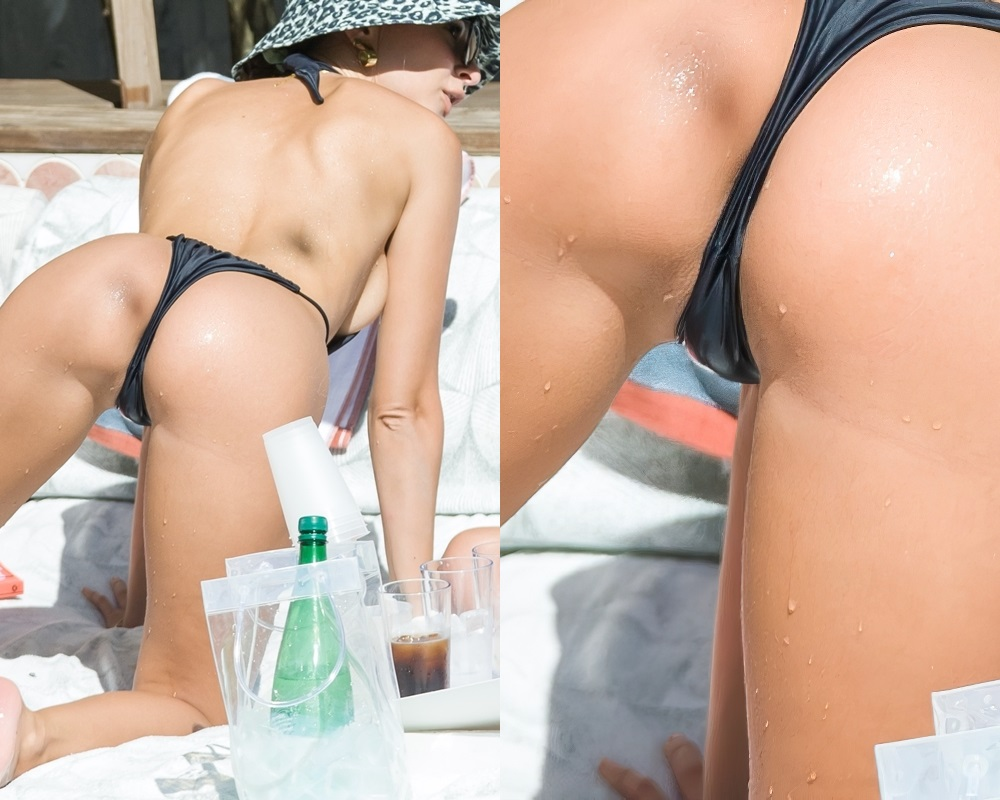 Emily Ratajkowski's Butthole In A Swimsuit