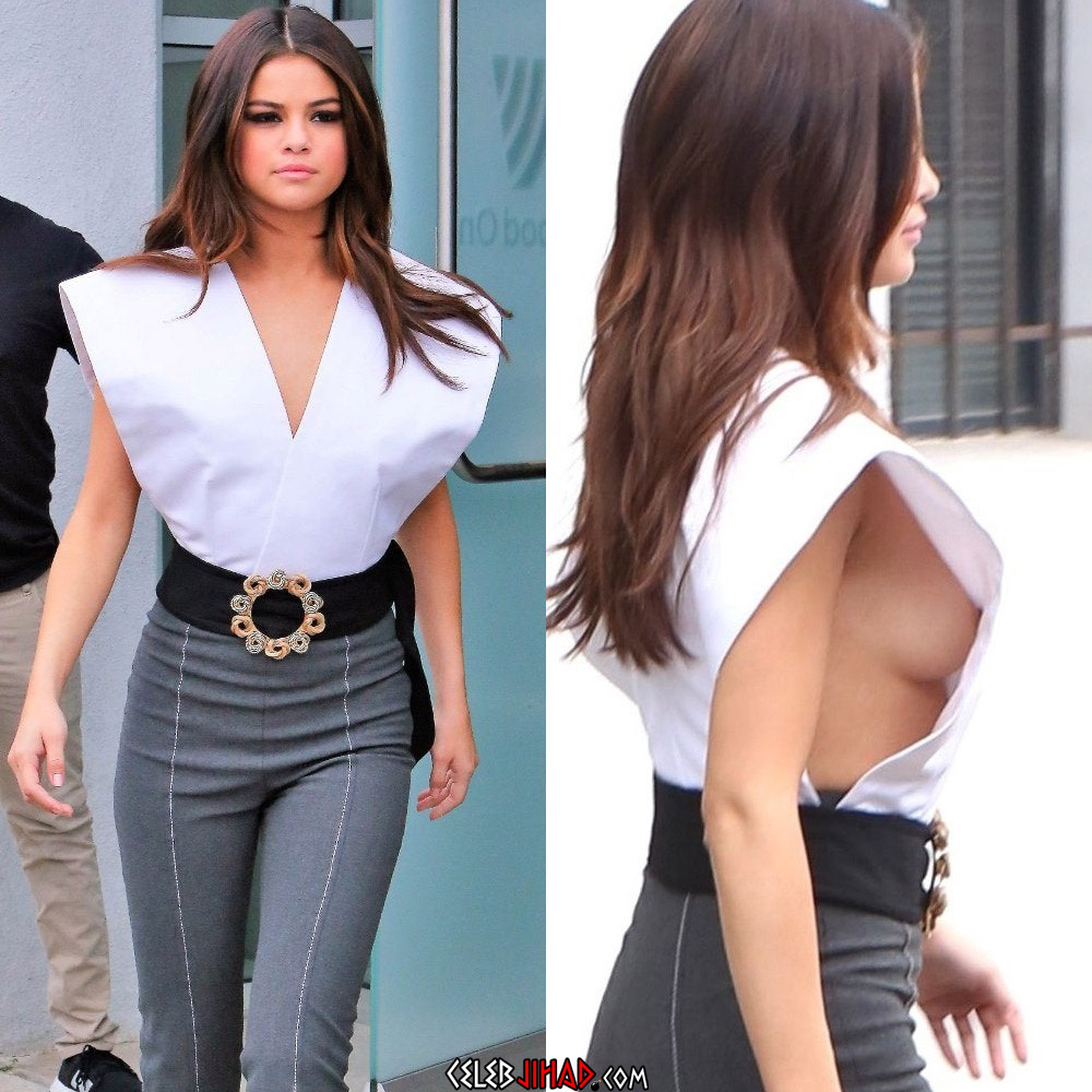 Selena Gomez's Heaving Breasts And Upskirt Panties Flash